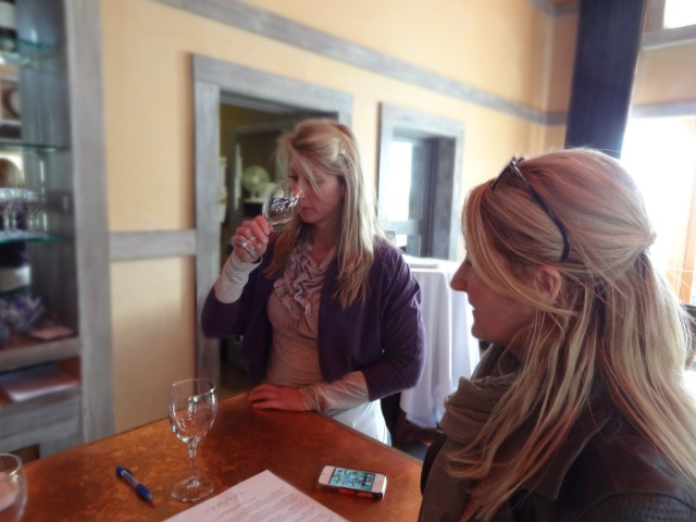 Chloe Guides the Wine Tasting
