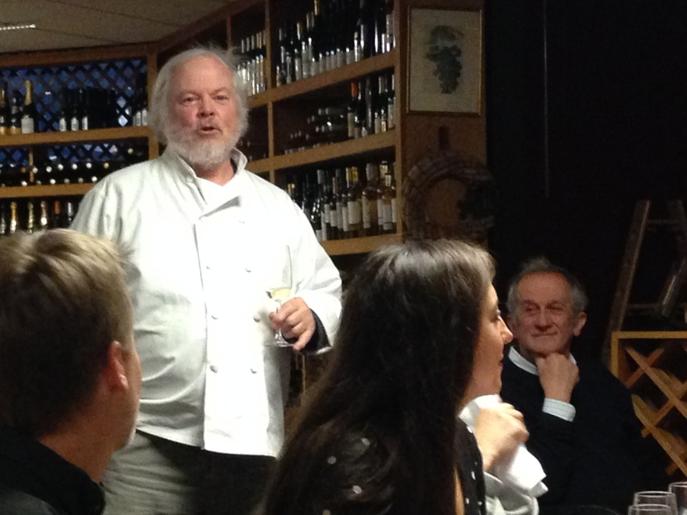 Bill Curtis & Gabrielle Rausse enjoying Thibaut Janisson at Tastings