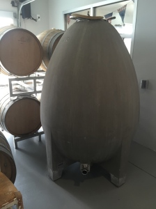 Stinson Vineyards Concrete Egg Fermentation